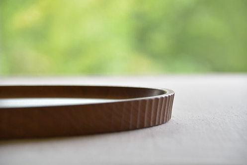 タルト型のお盆(26cm)くるみ