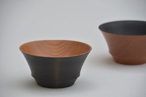 鉄染め小鉢(外黒)
