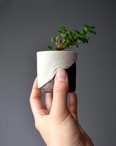 wrinkly stoneware planter, 2020