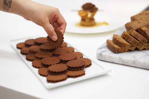 plated maple sable cookies, photo by Erica Pernice