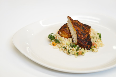 maple-infused chicken and cous cous