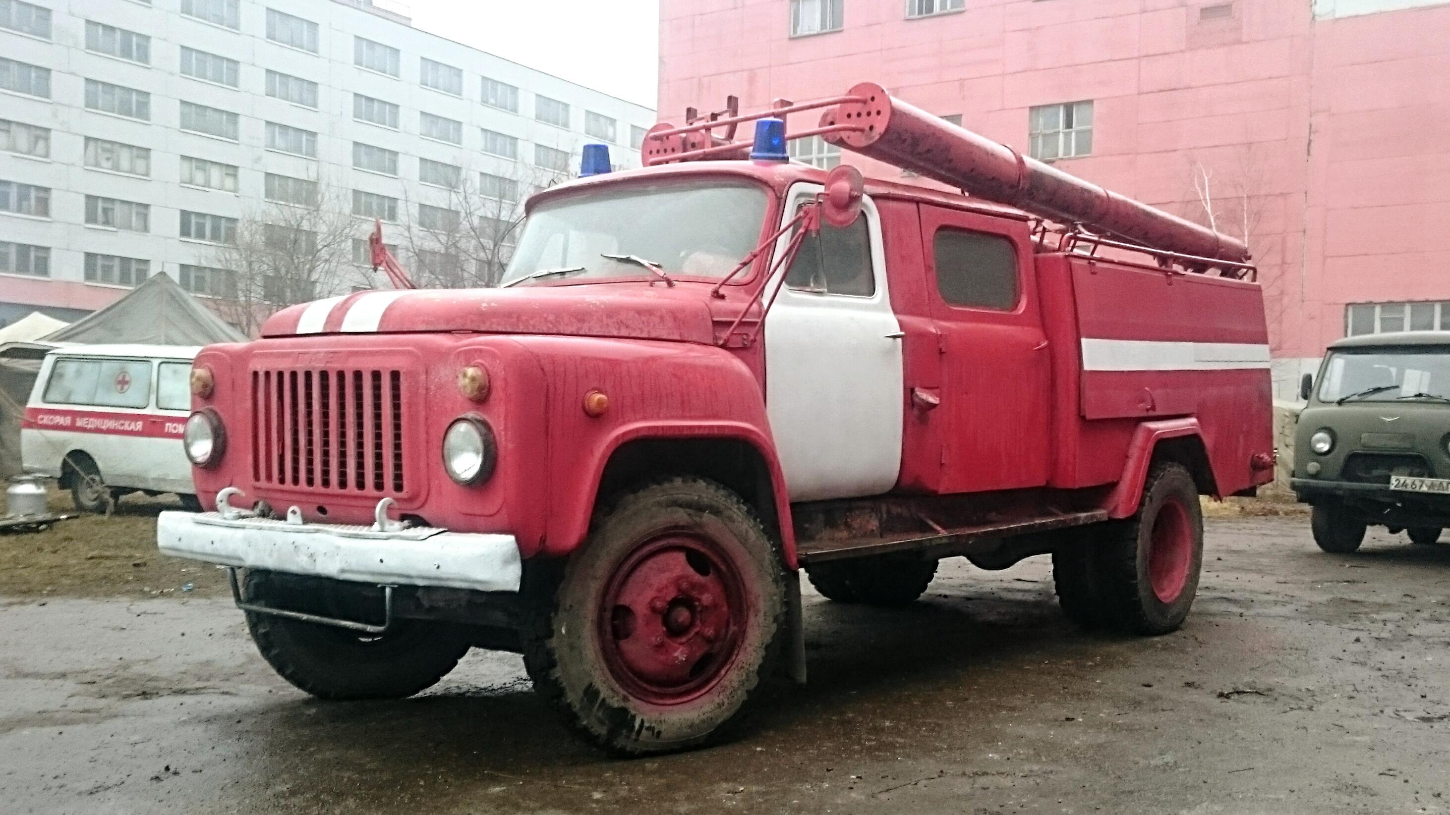 пожарная машина газ53ац