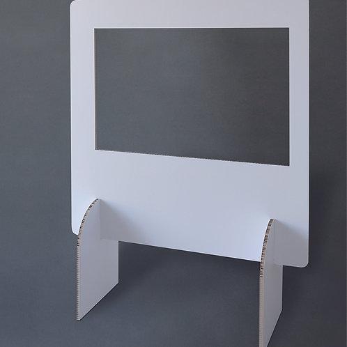 Schreibtischtrenner mit Sichtfenster