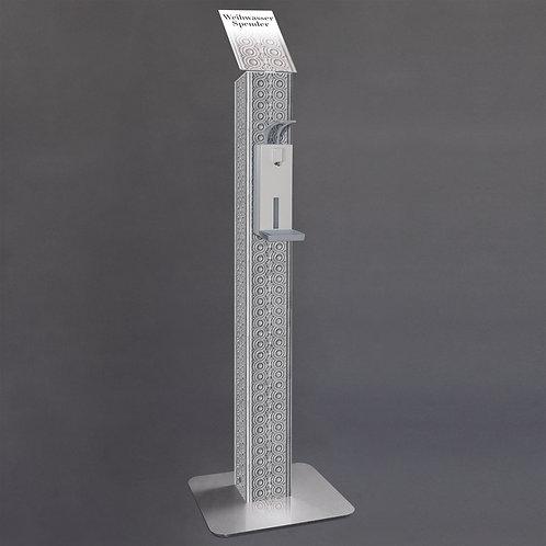 Manueller Weihwasserspender mit gotischer Säulengestaltung