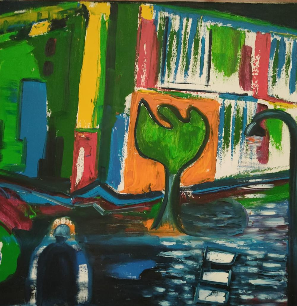 Un dipinto di Mario Stelluti