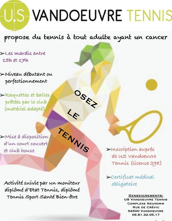 Activité physique adaptée Tennis US Vand