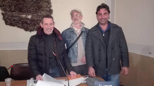 Maurizio Castagna durante l'incontro
