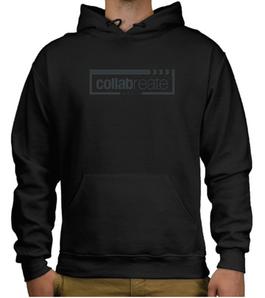 Tone on tone imprinted hoodie