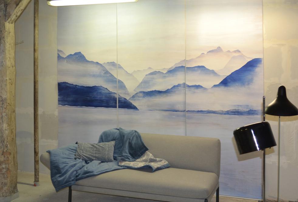 Décoration murale sur toile tissée
