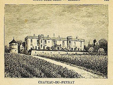 Château Haut Peyrat autrefois dit du Peyrat - gravure Ferret