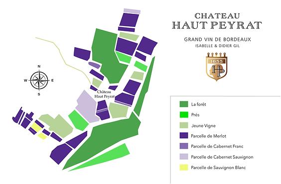 Château Haut Peyrat - les parcelles