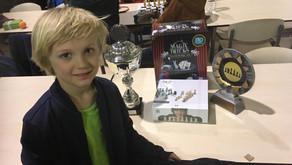 Arne Stroobant is Vlaams Jeugdschaakkampioen bij de -8jarigen