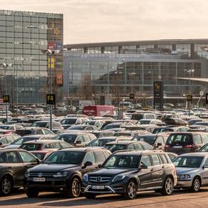 Flinke verschillen parkeren op luchthavens