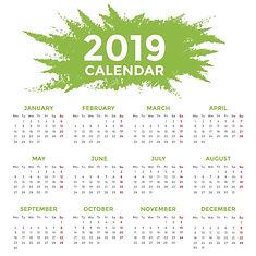 calendar-2019-days-start-from-monday-vec