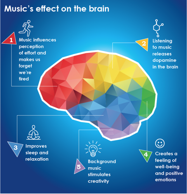 Map of Music's Effect on the Brain   Learning for a Cause