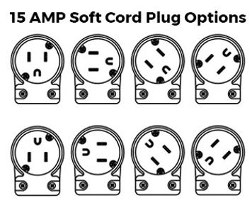 15amp Soft Power Cord Plug