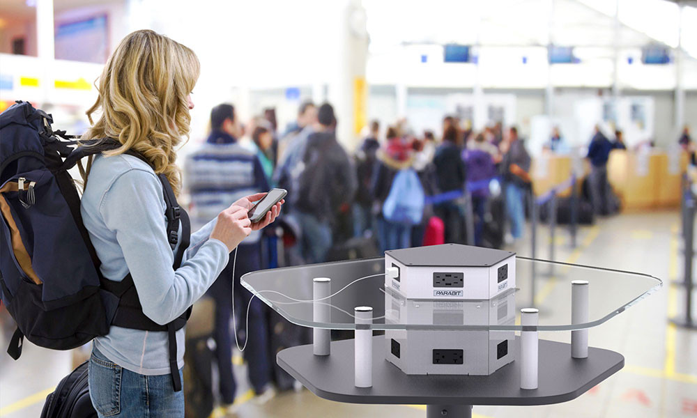 Charging Tables with Antimicrobial Film