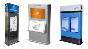 Multiple Wayfinding Kiosk Options