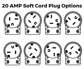 20amp Soft Power Cord Plug