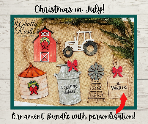 Personalized Ornament Bundle Kit!