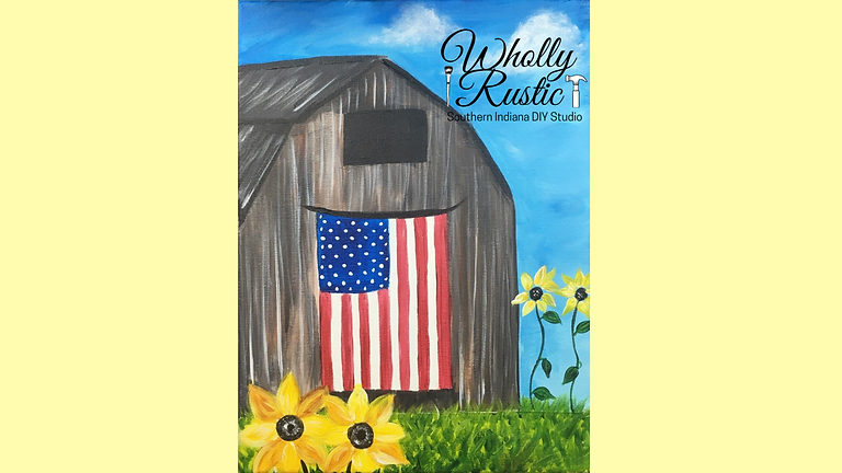 Patriotic Barn @ First Miracle Winery
