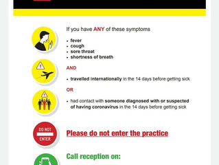 Patients Please Read Before Entering the Clinic COVID-19
