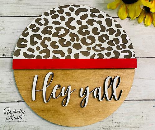 Hey Yall Door Hanger Kit!