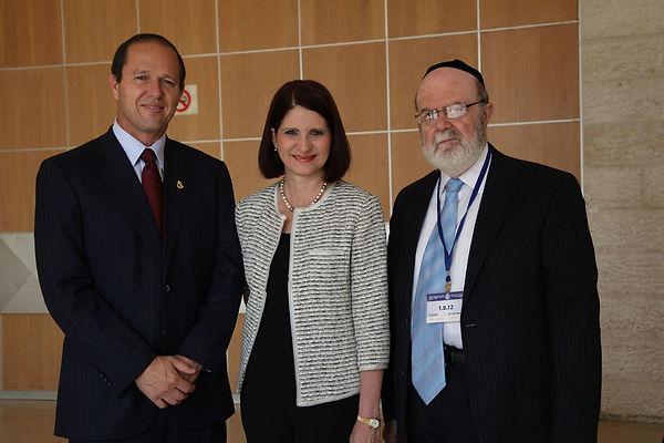 Jerusalem Mayor Nir Barkat, First Lady of Panama, Dr. Weinstein