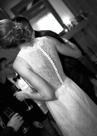 Dos de la robe de la mariée