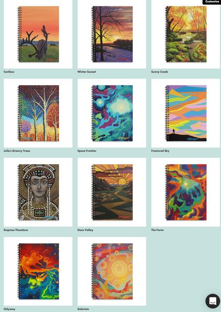Kirkland Creative Art Shop Spiral Notebooks