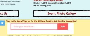 Kirkland Creative Art Newsletter subscription form