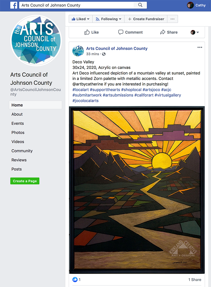 CKirkland art on ArtsJoCo social media