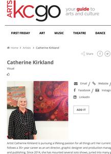 Catherine Kirkland profile ArtsKC Go!