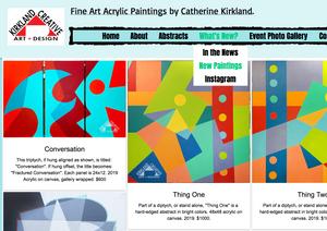 Catherine Kirkland New Paintings web page