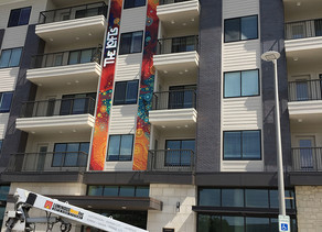 Signage is up at The Lofts at City Center