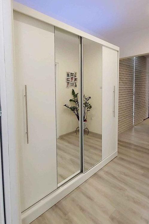 VALENCIA Wardrobe | Sliding Wardrobe 200cm in White | Flat Packed Furniture