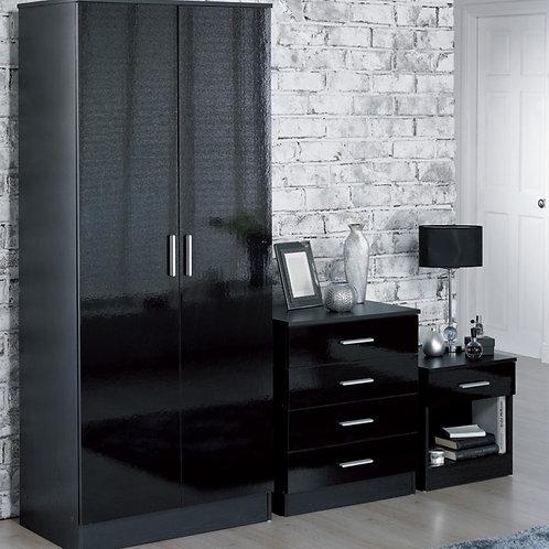 Monica 3 piece bedroom set - Black