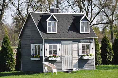 ELIZABETH Two-Storey Wooden Playhouse | With Windows & Doors | Flat Packed