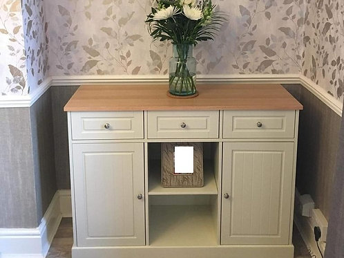 2 Door 3 Drawers Two Tone Storage Sideboard Country Cottage Style Stunning