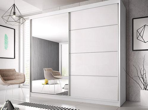 GRANADA Wardrobe | Sliding Wardrobe (3 sizes) in White | Flat Packed Furniture