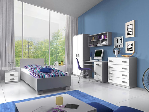 Smith 4 piece Bedroom set Grey/White