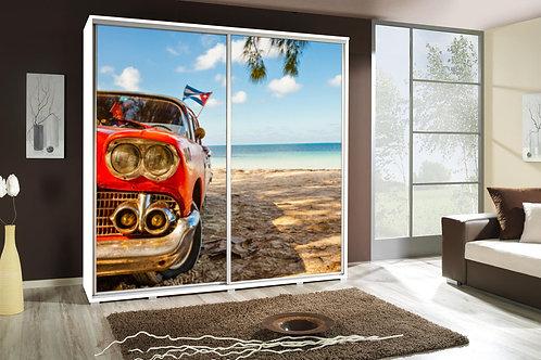 205cm Wide - Penelopa wardrobe with cars print