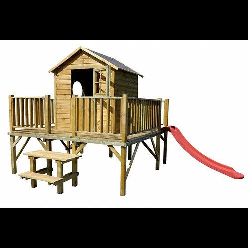 MATTHEW Wooden Playhouse | Door, Window & Steps Included | Flat Packed