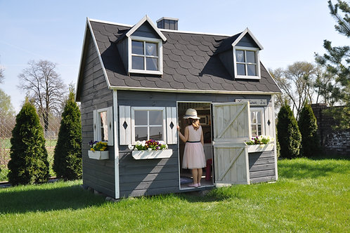 ELIZABETH Two-Storey Wooden Playhouse   With Windows & Doors   Flat Packed