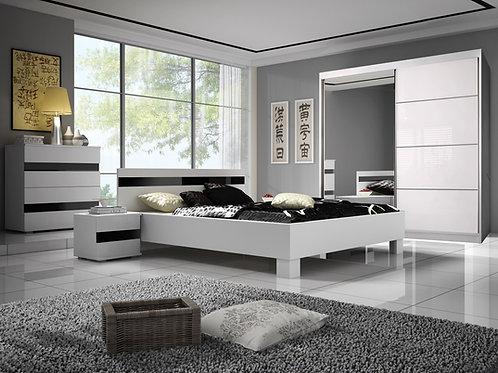 Lucca Bedroom Set - White/Black Gloss