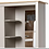 Thumbnail: 3 Door 4 Drawers Wardrobe Combi Storage Grey