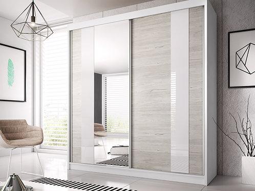 PALMA Wardrobe | Sliding Wardrobe (3 Sizes) in Grey | Flat Packed Furniture