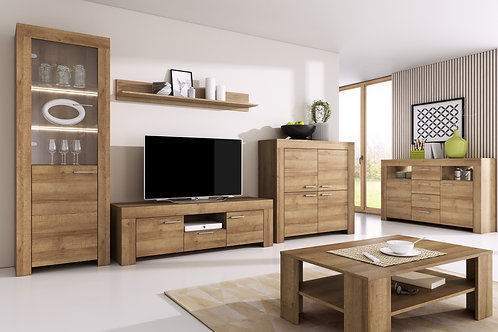 SKY Living Room Set | Riviera Oak | Flat Packed
