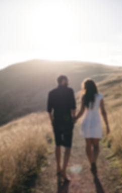 Romantic Walk in Sunset