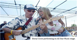 Sheryl Crow on All Star Music stage